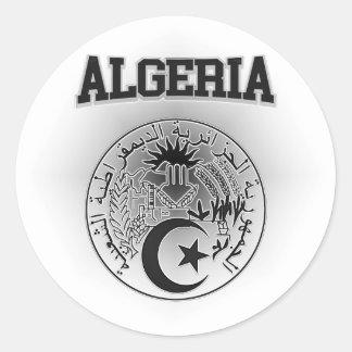 Algeria Coat of Arms Round Sticker