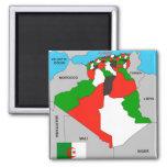 algeria country political map flag fridge magnet