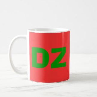 Algeria DZ Country Code Cup Classic White Coffee Mug