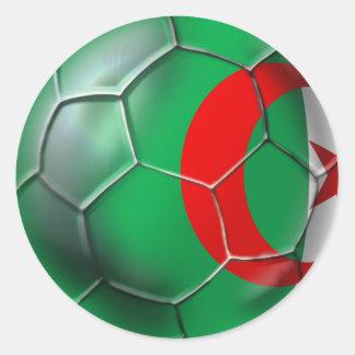 Algeria flag Algerian soccer ball gifts Classic Round Sticker