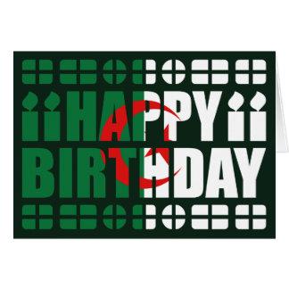Algeria Flag Birthday Card