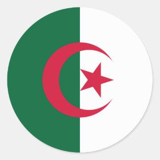 Algeria Flag Classic Round Sticker