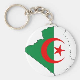 Algeria flag map DZ Keychain