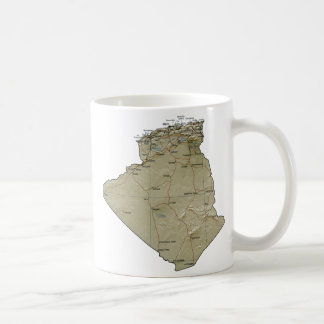 Algeria Flag ~ Map Mug