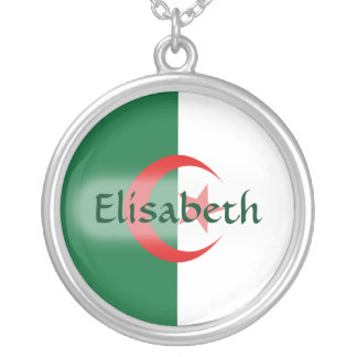 Algeria Flag + Name Necklace