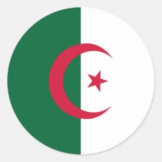 Algeria Flag Round Sticker