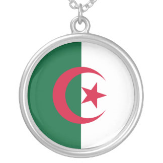 Algeria Flag Silver Plated Necklace