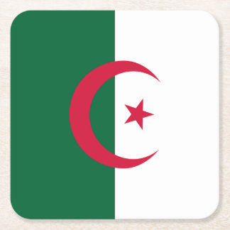 Algeria Flag Square Paper Coaster
