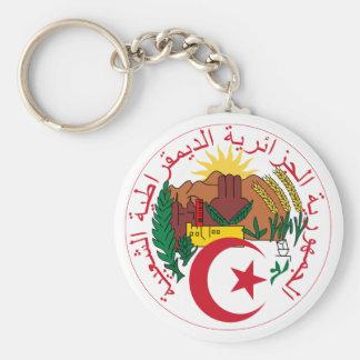 Algeria National Emblem Basic Round Button Keychain
