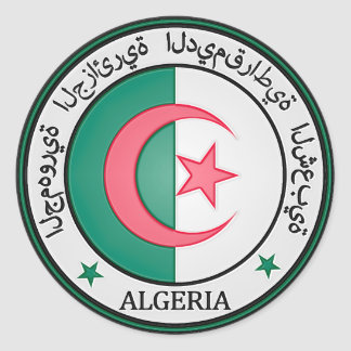 Algeria  Round Emblem Classic Round Sticker