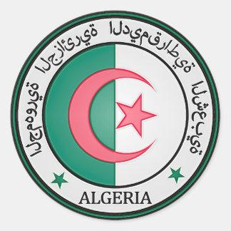 Algeria  Round Emblem Round Sticker