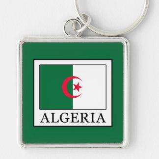 Algeria Silver-Colored Square Keychain