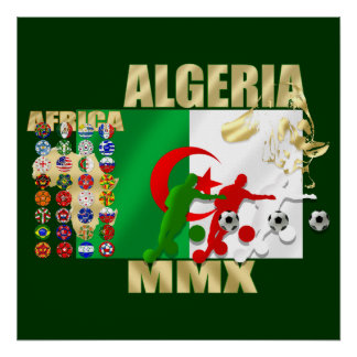 Algeria Soccer Football MMX Africa 2010 gifts Poster
