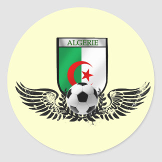 Algeria sophisticated soccer football crest classic round sticker