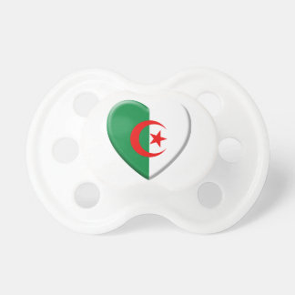 Algerian heart with flag Algeria Pacifier