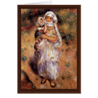 Algerian Woman With Child By Pierre-Auguste Card
