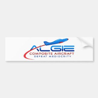 Algie Composite Aircraft Apparel Bumper Sticker