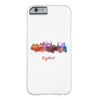 Algiers skyline in watercolor barely there iPhone 6 case