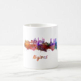 Algiers skyline in watercolor coffee mug