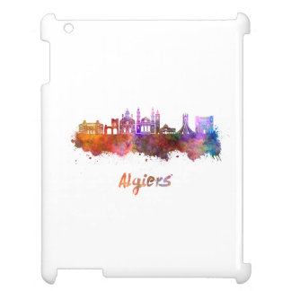 Algiers skyline in watercolor cover for the iPad 2 3 4