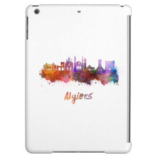 Algiers skyline in watercolor iPad air cases