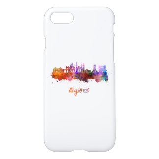 Algiers skyline in watercolor iPhone 8/7 case
