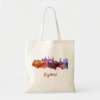 Algiers skyline in watercolor tote bag