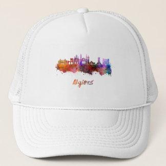 Algiers skyline in watercolor trucker hat