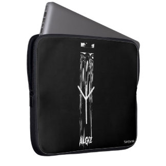 ☼Algiz  - the Rune of Protection☼ Laptop Sleeve
