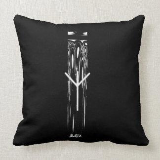 ☼Algiz  - the Rune of Protection☼ Throw Pillow