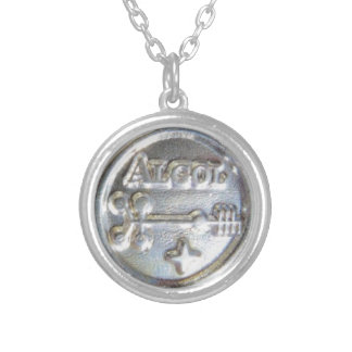 ALGOL PROTECTION TALISMAN SILVER PLATED NECKLACE
