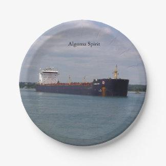 Algoma Spirit paper plate