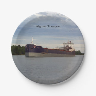 Algoma Transport paper plate