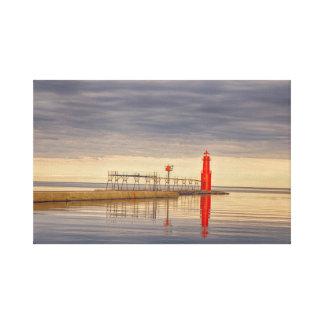 Algoma Wisconsin Lighthouse Canvas