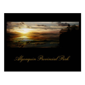 Algonquin sunset postcard