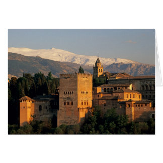 Alhambra; Granada; Andaslusia, Spain, Sierra Card