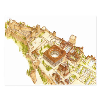Alhambra Granada Spain. Castle and palaces Postcard