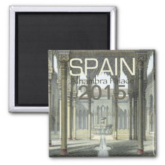 Alhambra Palace Spain Fridge Magnet Change Year