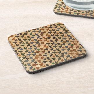 Alhambra Swirl Tiles Multi-Color Cork Coaster
