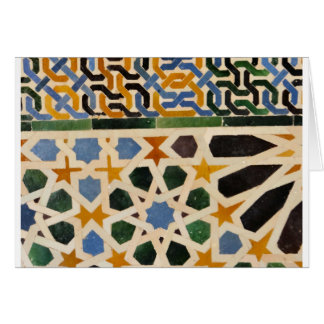 Alhambra Wall Tile #3 Card