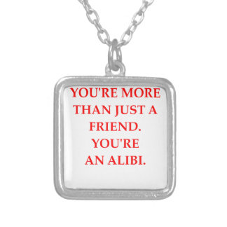 ALIBI SILVER PLATED NECKLACE