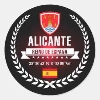 Alicante Classic Round Sticker