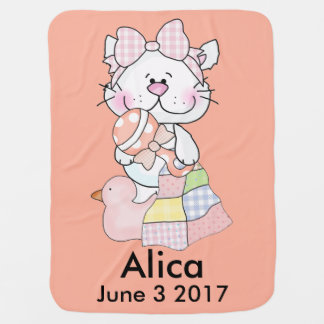 Alica's Personalized Kitty Baby Blanket