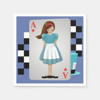 Alice 3D Flying Cards Paper Napkins