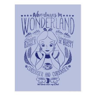Alice | Adventures In Wonderland Postcard
