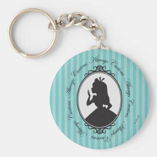 Alice | Always Curious Basic Round Button Keychain