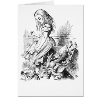 Alice and a Box of Animals Card