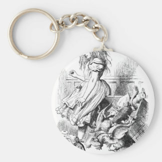 Alice and a Box of Animals Keychain