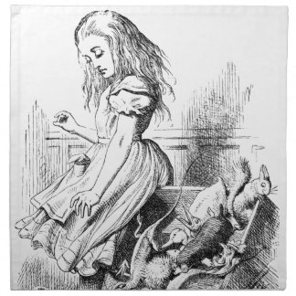 Alice and a Box of Animals Napkin