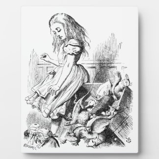 Alice and a Box of Animals Plaque